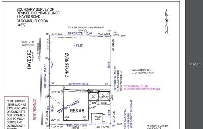 Pinellas County Residential Lots & Land For Sale: 7 N Hayes Road