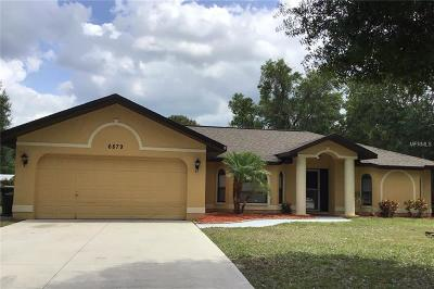 North Port Single Family Home For Sale: 6879 Locher Road