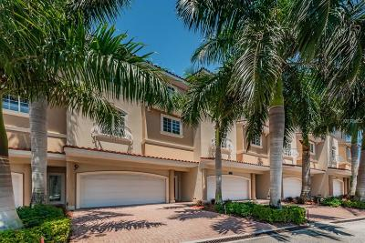 Treasure Island, St Pete Beach Townhouse For Sale: 8707 Boca Ciega Drive