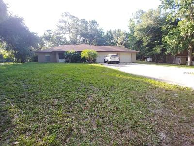 Brooksville Single Family Home For Sale: 16075 Centralia Road