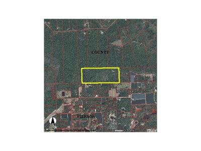 Lake County, Seminole County, Volusia County Residential Lots & Land For Sale: Burnsed