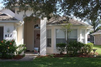 Edgewater Single Family Home For Sale: 822 Star Reef Lane