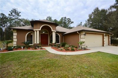 Lecanto Single Family Home For Sale: 1598 W Norway Lane
