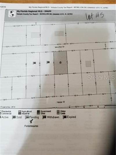 Orange City Residential Lots & Land For Sale: McMillon Lot #5