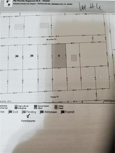 Orange City Residential Lots & Land For Sale: McMillon Lot #6