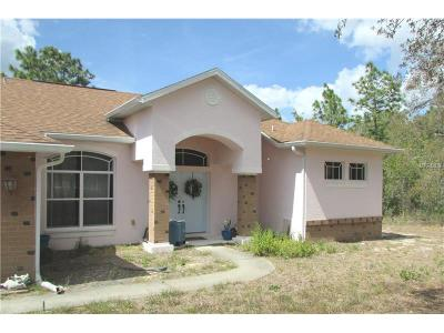 Brooksville Single Family Home For Sale: 15285 Herschel Road