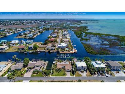 Hernando Beach Single Family Home For Sale: 3228 Gulfview Drive