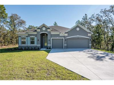 Weeki Wachee Single Family Home For Sale: 11176 Campfield Road