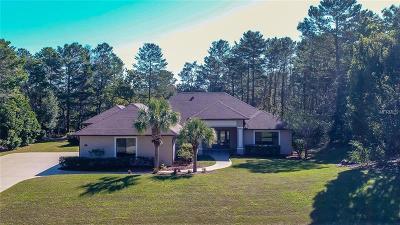 Weeki Wachee Single Family Home For Sale: 9440 Hernando Ridge Road