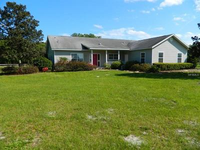 Dade City Single Family Home For Sale: 26000 And 26040 Bayhead Road