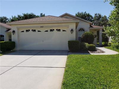 Single Family Home For Sale: 207 Center Oak Circle