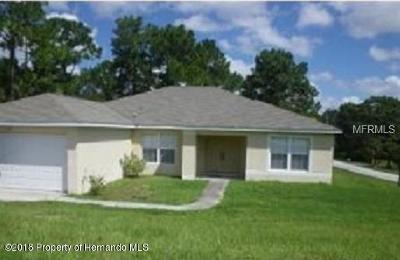 Weeki Wachee Single Family Home For Sale: 11081 Eggers Lane