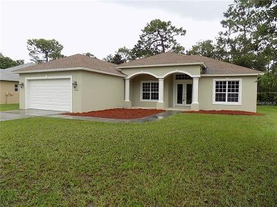 Weeki Wachee Single Family Home For Sale: 8864 Mississippi Run
