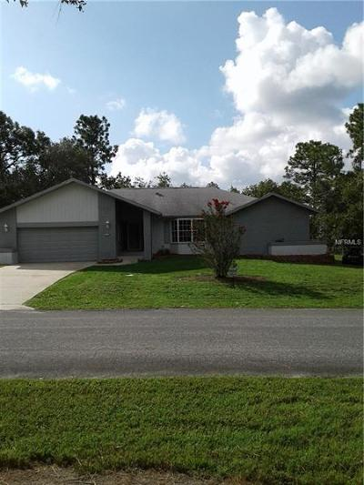 Homosassa Single Family Home For Sale: 5 Black Willow Court N