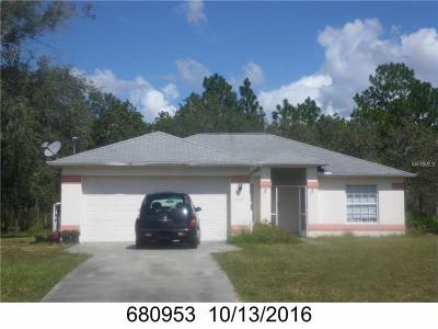 Weeki Wachee Single Family Home For Sale: 11119 Flock Avenue