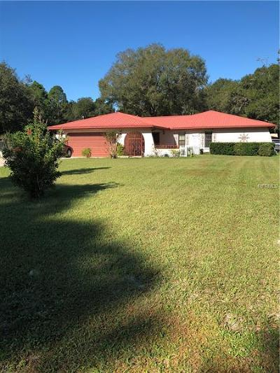 Brooksville Single Family Home For Sale: 8119 Fort Dade Avenue