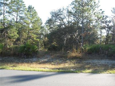 Weeki Wachee Residential Lots & Land For Sale: 0000 Maberly Road