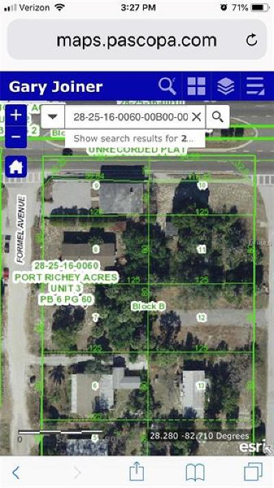 Port Richey Residential Lots & Land For Sale: Formel Avenue