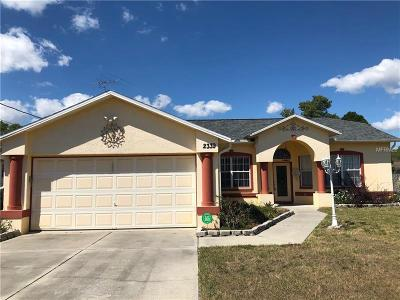 Aripeka, Booksville, Brooksville, Dade City, Hernando, Hernando Beach, Masaryktown, Nobleton, Ridge Manor, Spring Hill, Webster, Weeki Wachee Single Family Home For Sale: 2339 Renton Lane