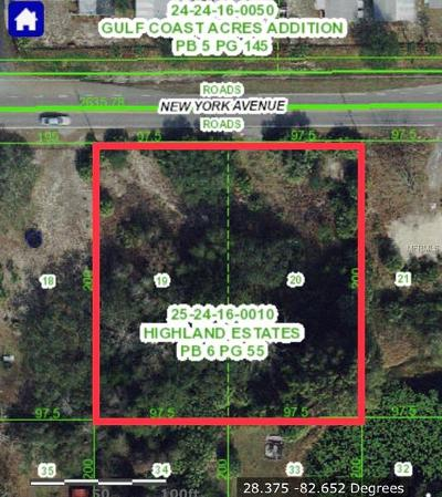 Hudson Residential Lots & Land For Sale: 9830 New York Avenue