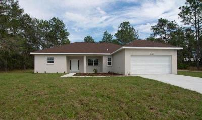 Hernando County Single Family Home For Sale: 8384 Cockatoo Road