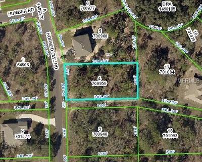 Weeki Wachee Residential Lots & Land For Sale: 11268 Horned Owl Road