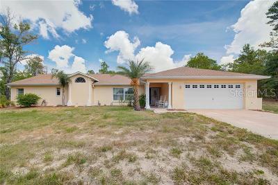 Weeki Wachee Single Family Home For Sale: 10355 Gannet Avenue