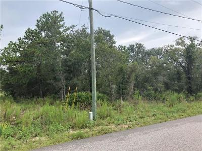 Weeki Wachee Residential Lots & Land For Sale: 13127 Marbled Godwit Road
