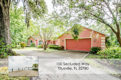 Titusville Single Family Home For Sale: 100 Secluded Way