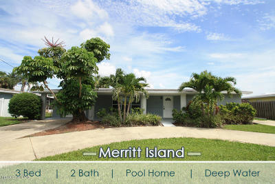 Merritt Island Single Family Home For Sale: 350 Alabama Avenue