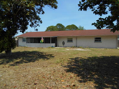 Cocoa Single Family Home For Sale: 6909 Bryant Road