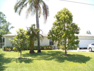Palm Bay Single Family Home For Sale: 1070 NW Jupiter Boulevard NW