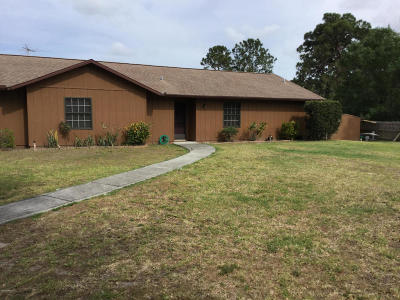 Cocoa Single Family Home For Sale: 1945 Adamson Road