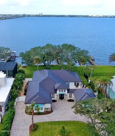 Viera, Melbourne, Melbourne Beach, Indialantic, Satellite Beach, Indian Harbour Beach, Cocoa Beach, Eau Gallie, West Melbourne, Cape Canaveral Single Family Home For Sale: 510 N Riverside Drive N