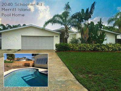 Brevard County Single Family Home For Sale: 2040 Schooner Drive
