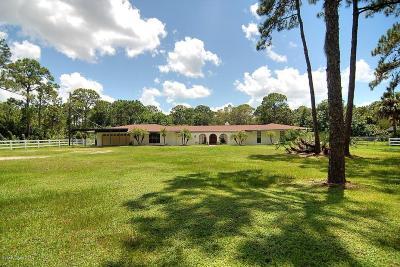 Melbourne Single Family Home For Sale: 4905 Lake Washington Road