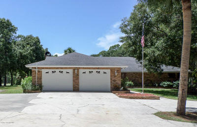 Cocoa Single Family Home For Sale: 1665 Friday Road