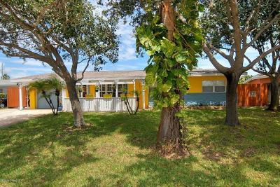 Indian Harbour Beach Single Family Home For Sale: 206 Terry Street