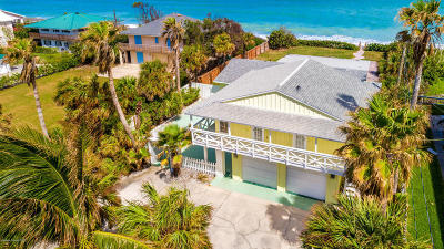Cocoa, Cocoa Beach, Indian Harbour Beach, Melbourne, Melbourne Beach, Merritt Island, Rockledge, Titusville, Viera Single Family Home For Sale: 6503 S Highway A1a