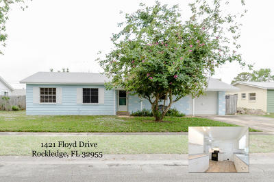 Rockledge Single Family Home For Sale: 1421 Floyd Drive