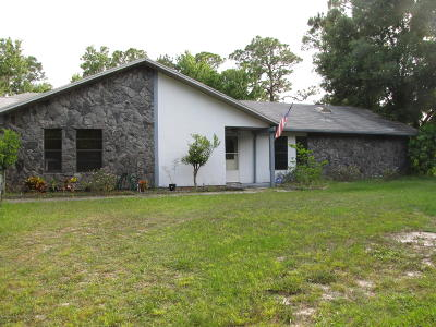 Cocoa Single Family Home For Sale: 1465 Friday Road