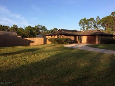 Palm Bay FL Single Family Home For Sale: $225,000