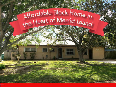 Merritt Island Single Family Home For Sale: 255 Birch Avenue