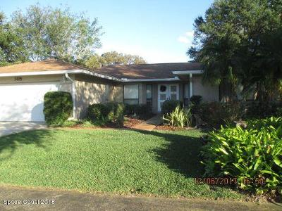 Titusville Single Family Home For Sale: 3495 Travis Place