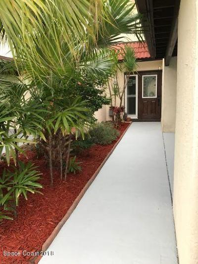 Cape Canaveral Townhouse For Sale: 8720 Banyan Way