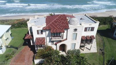 Indialantic, Melbourne, Melbourne Beach, Satellite Beach, Cocoa Beach, Cape Canaveral Single Family Home For Sale: 7165 S Highway A1a