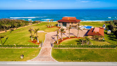 Viera, Melbourne, Melbourne Beach, Indialantic, Satellite Beach, Indian Harbour Beach, Cocoa Beach, Eau Gallie, West Melbourne, Cape Canaveral Single Family Home For Sale: 8145 S Highway A1a