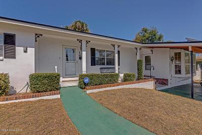 Rockledge Single Family Home For Sale: 124 Orange Avenue