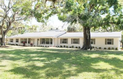 Melbourne Single Family Home For Sale: 5845 Lake Washington Road