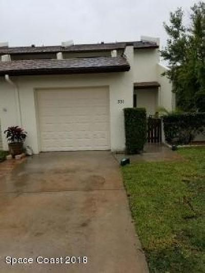 Indian Harbour Beach Townhouse For Sale: 331 Markley Court